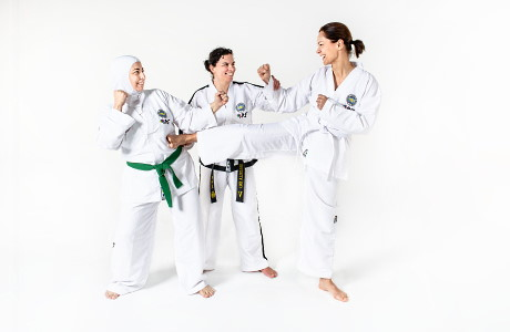Taekwon-Do special voor en door vrouwen, laagdrempelig, leerzaam en gezellig.